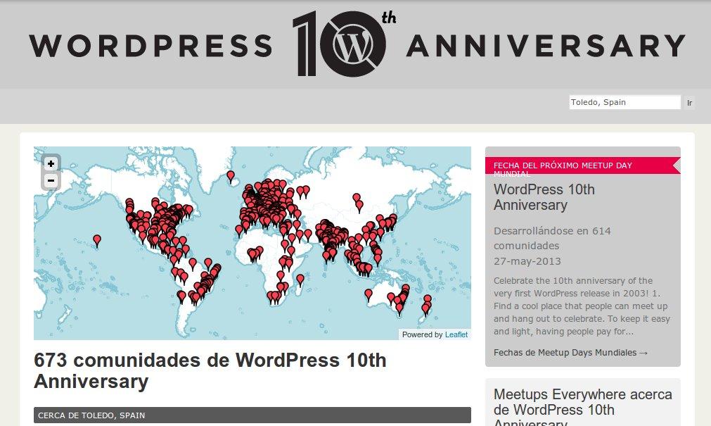 WordPress 10 year 2013 meetup